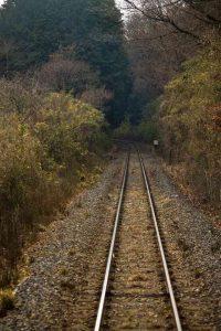 山道の線路